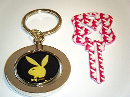 Playboy BUNNY Key Kwikset KW1 Uncut Blank Pink Bunny House Key With Key Chain