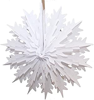 product image for 3-Pack 19 Inch Tissue Paper Snowflake Decoration (White)