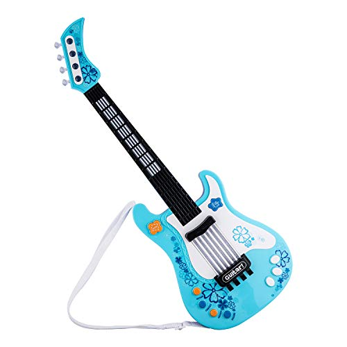ASTOTSELL Electric Guitar for Kids, Toy Kids Guitar Musical Instruments Infrared Sensing Guitar Kit for Children Boys and Girls Gift (Blue) by ASTOTSELL