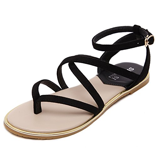 120132849cbdc Meeshine Womens Slingback Strappy Buckle Gladiator Summer Thong Flat Sandals  80%OFF