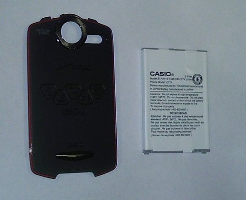 Casio Commando C771 Standard Back Cover Door and Battery BTR771B (Casio Cell Phone Covers)