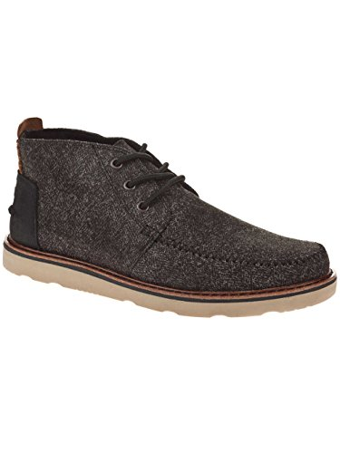 Chukka Stiefel black black textile leather