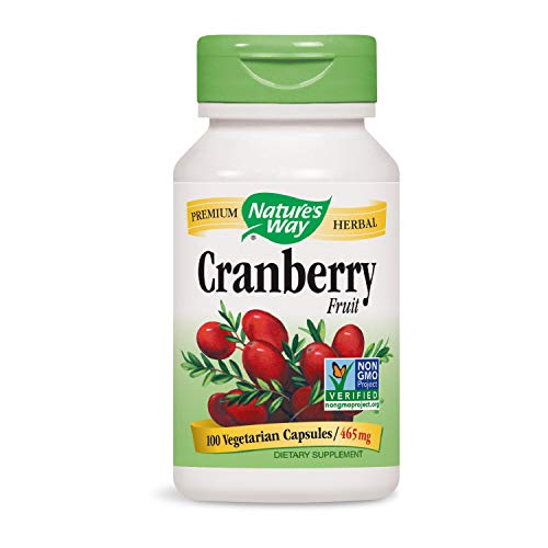 (Nature's Way Premium Herbal Cranberry Fruit 465 mg, 100 Vcaps (Packaging May Vary))