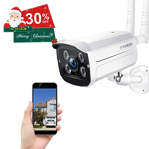 FREDI Wireless Security Camera,720p WiFi Wireless IP Bullet Camera(Weatherproof) (FREDI-LB807-new)