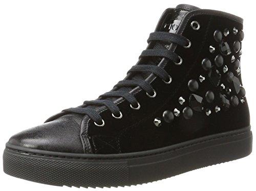 Sneaker Collo Stokton a Stokton Nero Donna Sneaker Alto PI61ExPw