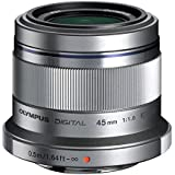 Olympus M. Zuiko Digital ED 45mm f1.8 (Silver) Lens for Micro 4/3 Cameras - International Version (No Warranty)