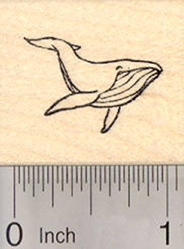 Alaska Stamps - Whale Rubber Stamp, Alaska, Humpback Whale, Small