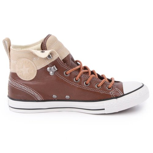 Converse Chuck Taylor Hiker 139820C Mens Laced Leather & Suede Trainers Brown - 12