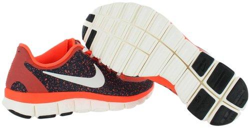 Nike Free 5.0 V4 Total Cramoisi / Voile / Noir