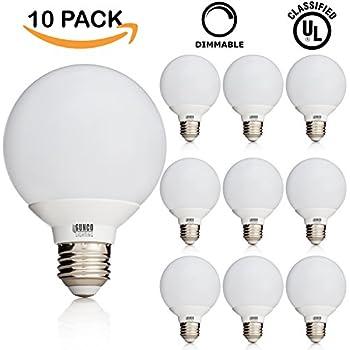 Sunco Lighting 10 PACK   UL U0026 ENERGY STAR LISTED   6W Dimmable G25 LED Bulb