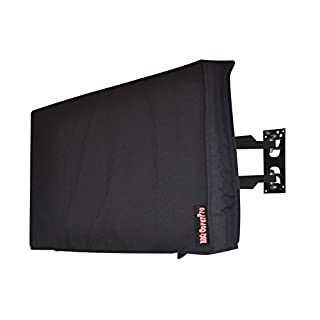 """Outdoor 38"""" TV Cover, Black Weatherproof Universal Protector for 40''-43"""" LCD, LED, Television Sets - Compatible with Standard Mounts and Stands. Built in Remote Controller Storage Pocket"""