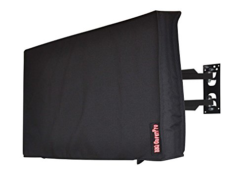 "Outdoor 58"" TV Cover, Black Weatherproof Universal Protec..."