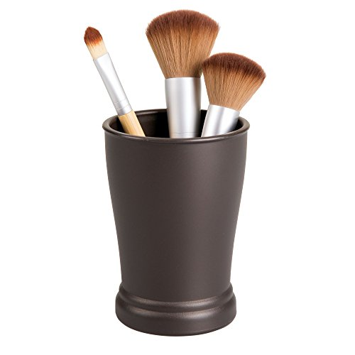 - InterDesign Kent Plastic Tumbler Cup, Holder for Makeup Brushes, Toothbrushes, Glasses, Brushes on Bathroom, Vanity Countertops, College Dorm, Bedroom Desks, 3
