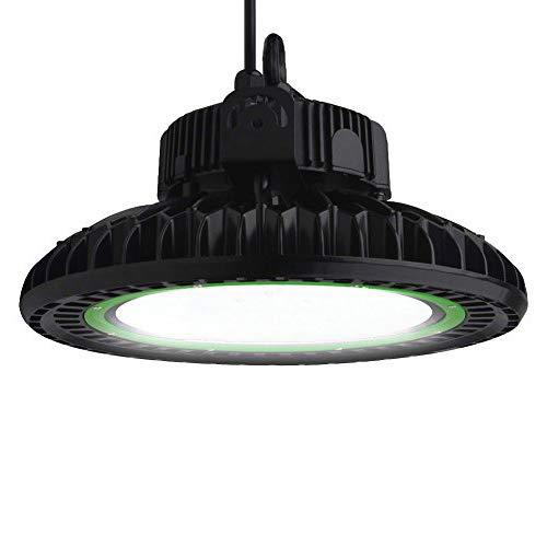 Dephen LED High Bay Light 150W 20250Lm UFO High Bay Light Fixtures LED Shop Lights 5000K Indoor Large Area Warehouse Commercial Lighting, DLC & UL, 5 Years Warranty