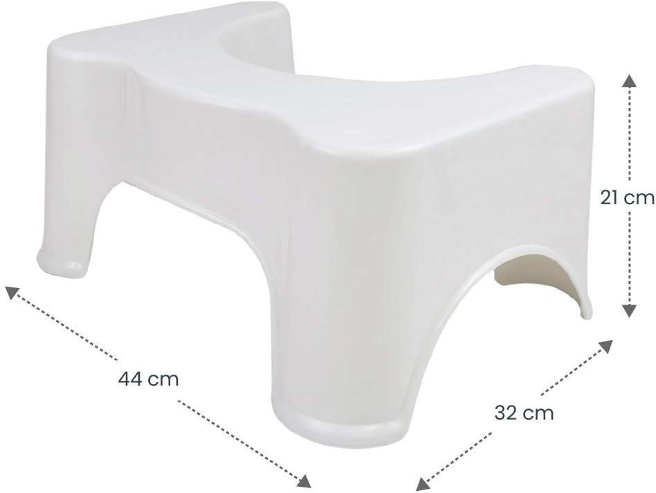"""di Colore Bianco 44x32x21cm LOMOS Sgabello Bagno /""""Vital/"""""""