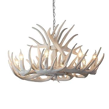 Gfei le restaurant dining room lustre lustre lustre de résine de bois de cerf blanc