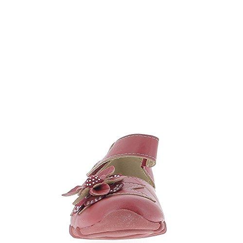 Chaussures Femme Rouges Confort Décor Fleur et Strass 7Ahw7pS