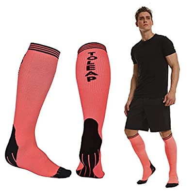 Compression Socks for Men & Women - BEST Graduated Athletic Fit Everyday Use - Running Pregnancy Flight Travel Nursing Boost Stamina Circulation Recovery Cycling Basketball by Wishfly