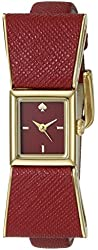 kate spade new york Women's 1YRU0902 Kenmare Gold-Tone Stainless Steel Watch with Red Leather Band