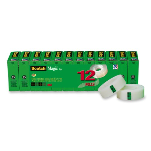scotch-magic-tape-3-4-x-1000-inches-boxed-12-rolls-810k12