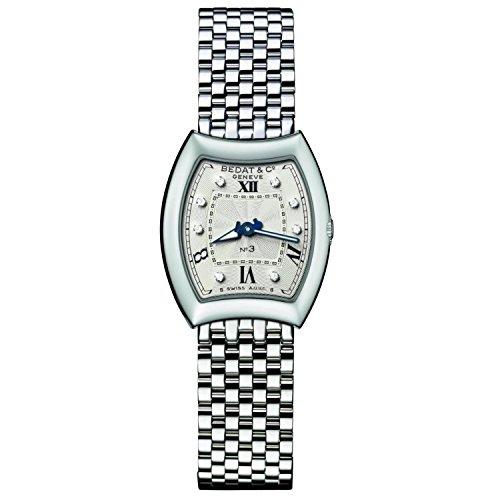 Bedat & Co Women's No.3 Diamond Steel Bracelet & Case Quartz Silver-Tone Dial Analog Watch 305.011.109