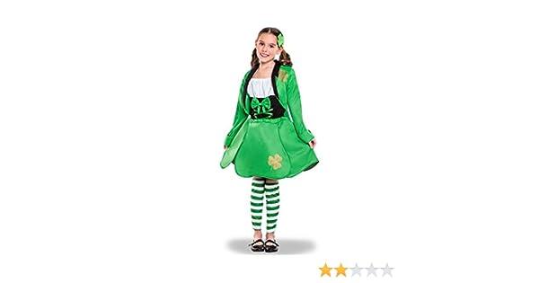 Disfraz de Irlandesa de San Patricio para niña: Amazon.es ...