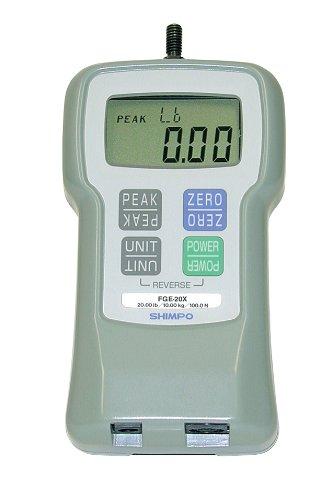 Shimpo FGE-50X LCD Digital Force Gauge, 0.01 lbs Graduation, 50 lbs Range