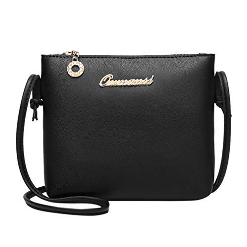 Phone Bag Color Fashion Black Women Solid Black Messenger Bag Bag Crossbody Coin Kanpola Sqa8xwO0