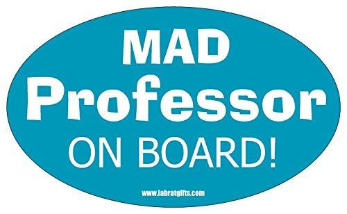 Science ThemedMad Professor on Board Sticker