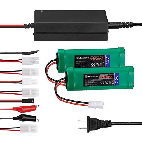 Powerextra 2 Pack 7.2V 3600mAh High Capacity 6-Cell NiMH Battery
