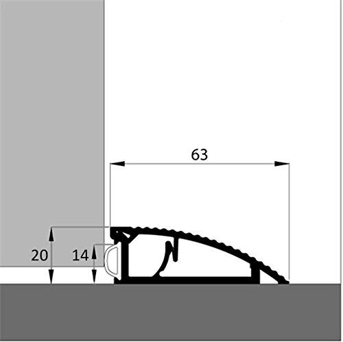 Fabulous Türschwelle AKW 120 cm Alu- Schwelle mit Dichtung als RM51