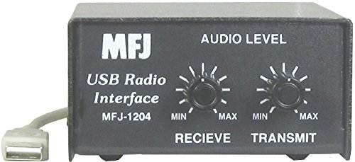 (MFJ-1204MD6 USB Rig Interface Unit w/ 6-Pin Mini-Din Cable to Data/Acc Port)