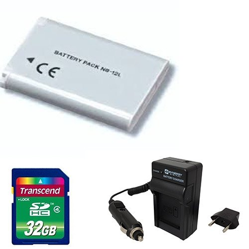 Canon Legria mini X Camcorder Accessory Kit includes: SD32GB Memory Card, ACD430 Battery, PT90 Charger by Synergy Digital