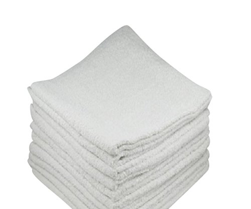 Terry Cloth Food (White Cotton Bar Mops, Terry Towels, 16