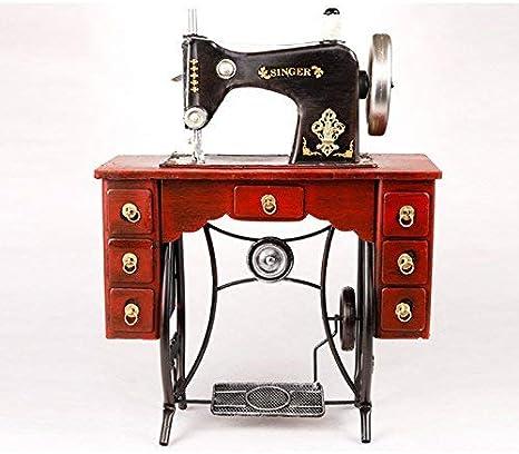 Sunshier Máquina de Coser Modelo Vintage Retro decoración Ropa Tienda Restaurante café Ventana Accesorios Decoraciones Caja de música de Madera: Amazon.es: Hogar