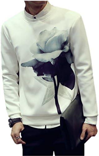 Mr,X Choice メンズ 高級仕様 スリム 花柄 セーター カジュアル ストリート ジャケット パーカー