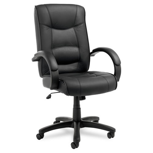(Alera ALESR41LS10B Strada Series High-Back Swivel/Tilt Chair, Black Top-Grain Leather)