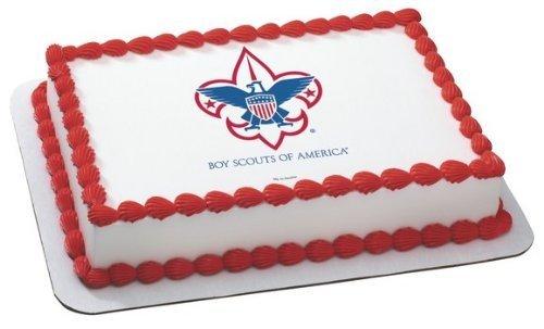 Amazon.com: Boy Scout Emblem ~ Edible Cake Image Topper: Kitchen ...