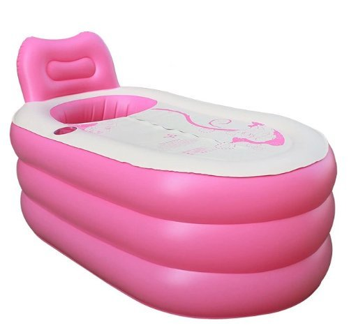 Back to 20s Fashion Adult SPA Inflatable Bath Tub with Electric Air Pump (Pink, Large) by Back to 20s