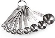 Measuring Spoons: U-Taste 18/8 Stainless Steel Measuring Spoons Set of 9 Piece: 1/16 tsp, 1/8 tsp, 1/4 tsp, 1/3 tsp, 1/2 tsp