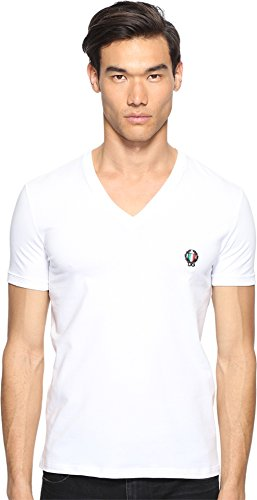 Dolce & Gabbana Men's Deep V-Neck T-Shirt White - Dolce & Gabbana Clothing