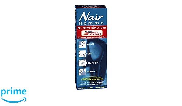NAIR Creme dépilatoire gel-creme formule contact pour homme - Tube 200 ml + spatule: Amazon.es: Salud y cuidado personal