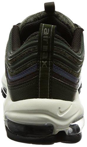 Nike Chaussures Unisexe Air Max 97 Premium en Cuir et Laine Verte 312834-300