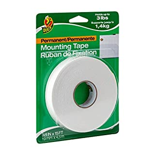 Duck Brand Permanent Foam Mounting Tape, Double-Sided, 0.75-Inch x 15 Feet, Single Roll, White (394666) (B000NHY1KK) | Amazon price tracker / tracking, Amazon price history charts, Amazon price watches, Amazon price drop alerts