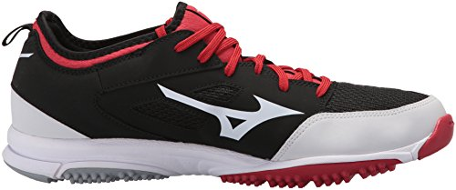 Shoes Black Mizuno 2 Players Baseball MIZD9 Trainer Red Turf Men's xwxO08T7