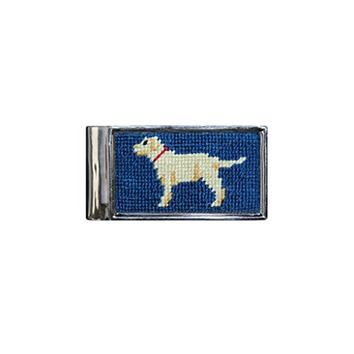 (Yellow Lab Needlepoint Money Clip by Smathers & Branson)