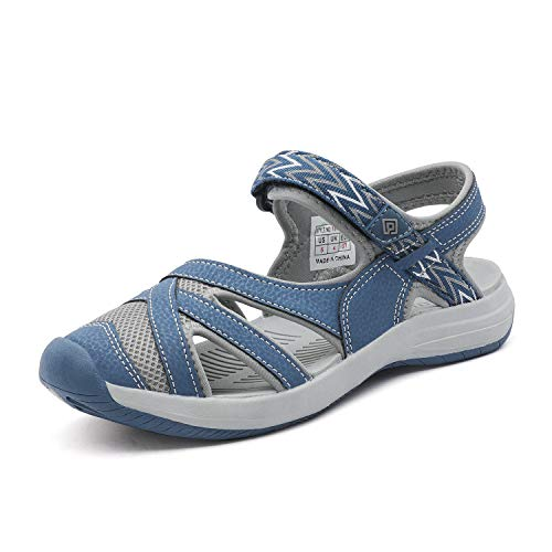 DREAM PAIRS Women's Hiking Sandals Sport Athletic Sandal Dark Blue Size 8.5 M US 181103