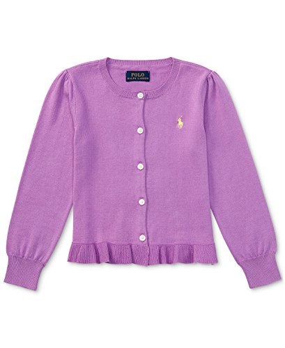 Ralph Lauren Little Girls' Cardigan Sweater Size 5 New Hibiscus