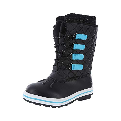 f76d6058fd65 Rugged Outback Black Turquoise Girls  Brisk -30 Weather Boot 4 Regular