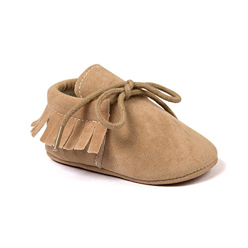 Kuner Toddler Baby Boys Girls Moccasins Tassels Soft Sole Non-Slip First Walkers Shoes (11cm(0-6months), -